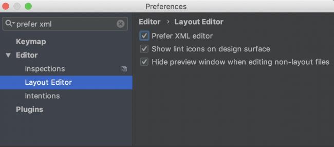 Prefer XML