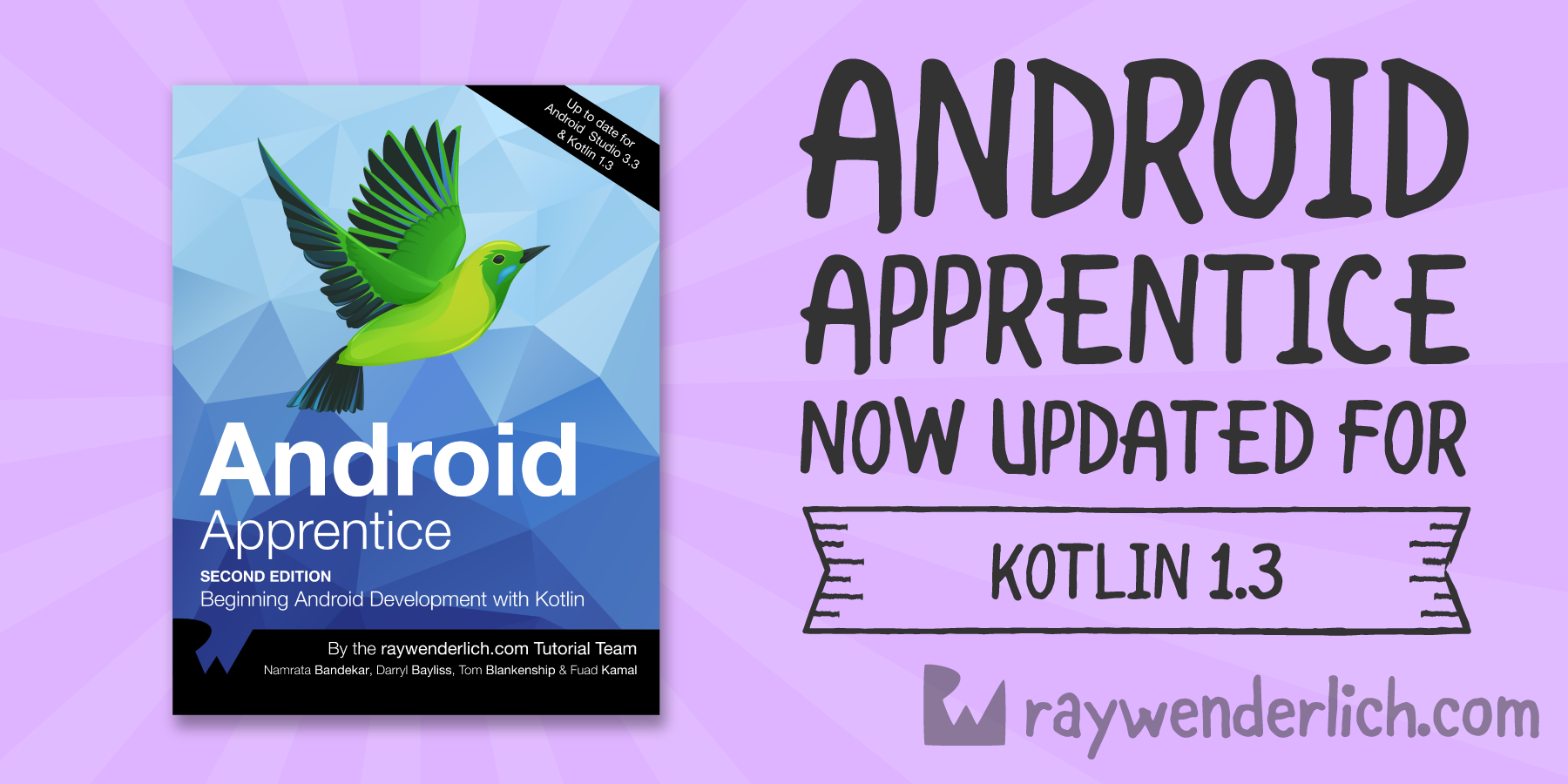 QnA VBage Android Apprentice Book Now Updated for Kotlin 1.3! [FREE]