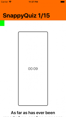 App with broken constraints