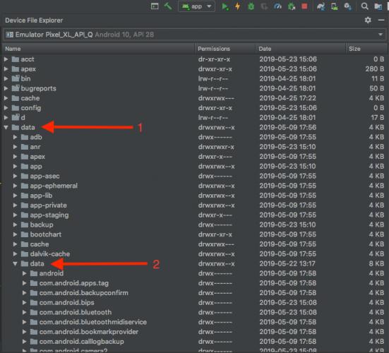 File explorer database