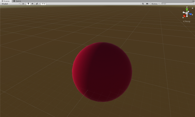 Screenshot of the red sphere that you'll transform into a heart.