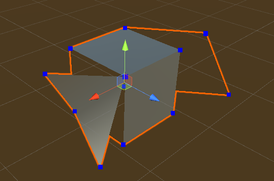 SScreenshot showing how the cube looks when you've dragged the dots.