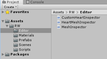 Screenshot of the Editor folder and its contents.