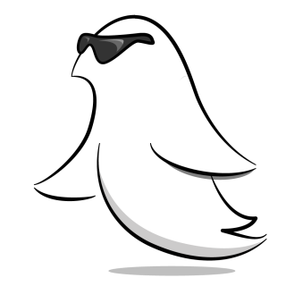 Cool Swift Bird with Sunglasses