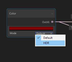 HDR Color Node