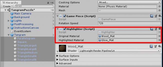 Assign Highlighter Materials