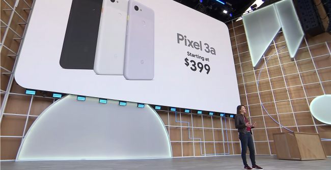 Showing the Pixel 3a