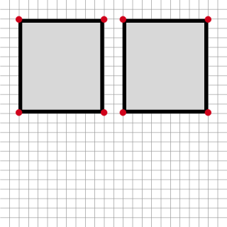 two rectangles vector graphic