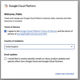 Google cloud TOS