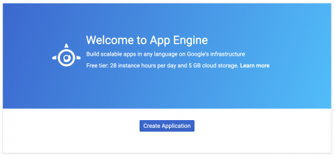 Create new App Engine Application