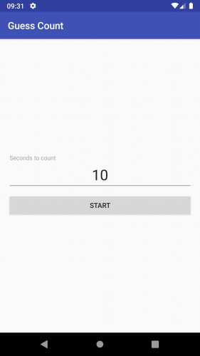guess count app main screen