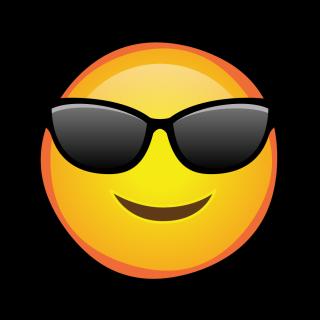 Happy sun wearing sunglasses.