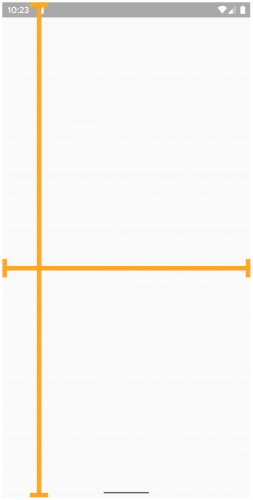 White screen with no navigation or status bars. A gold, horizontal line crossing the bidding of the screen and another vertical line across the left fifth of the page.
