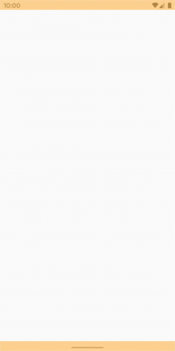 Blank screen it blank, peach status and navigation bars.