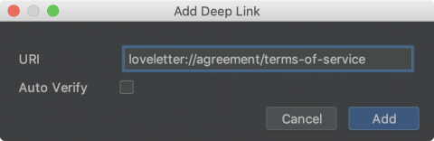 Add Terms of Service Deep Link