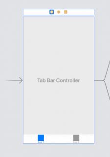 Initial View Contorller Arrow