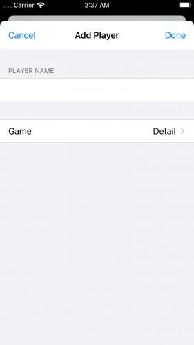 Add Player Scene