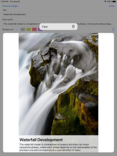 context menu on iPad