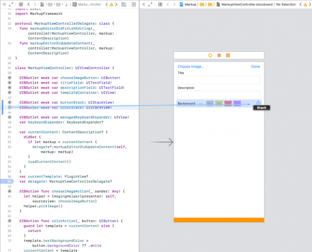 assistant editor connecting color stack