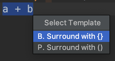 Surround with dropdown