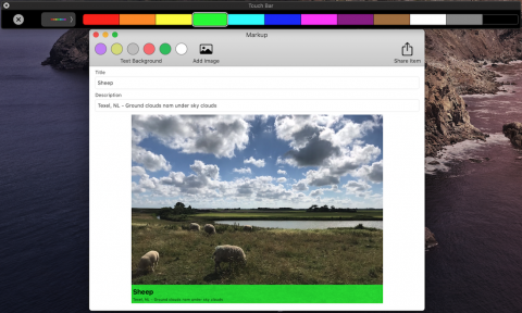 show Touch Bar via Xcode, Window, Show Touch Bar menu