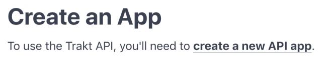 Trakt create app