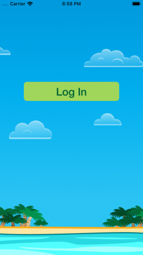 Login Screen With No Items