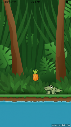 Cut the rope with SpriteKit tutorial pineapple physics