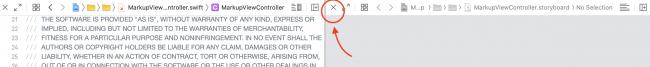 close assitant editor