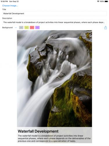 Markup app initial iPad screenshot
