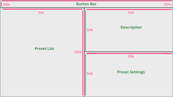 Preset Window's base layout