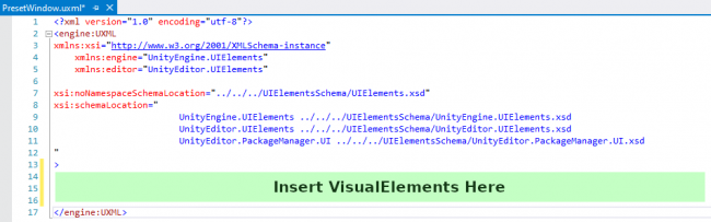 Where to insert the new VisualElements