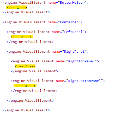 Code showing where to place VisualElements