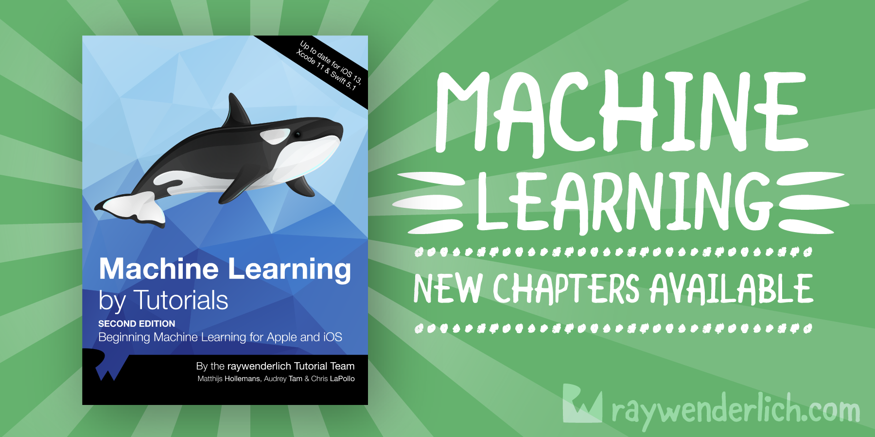 Machine Learning by Tutorials: 3 More Updated Chapters! [FREE]