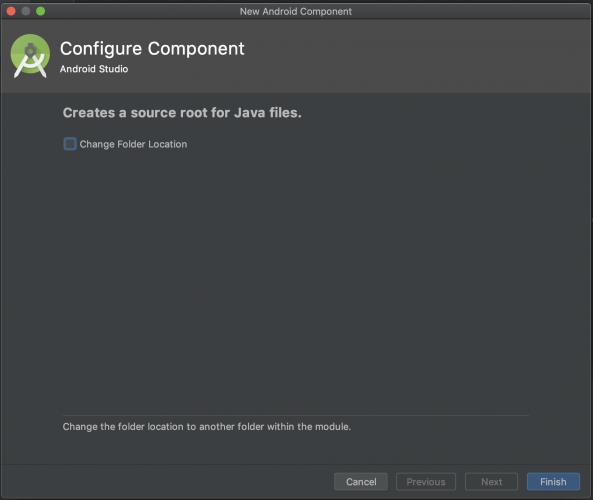 Configure Component dialog