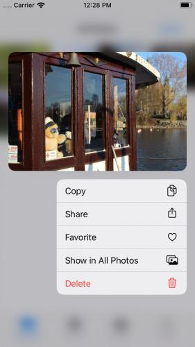 Context Menu in iOS
