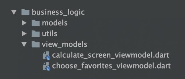 View model files