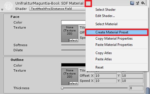 create a material preset