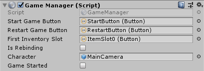 game manager button setup
