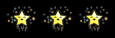 Three congratulatory stars