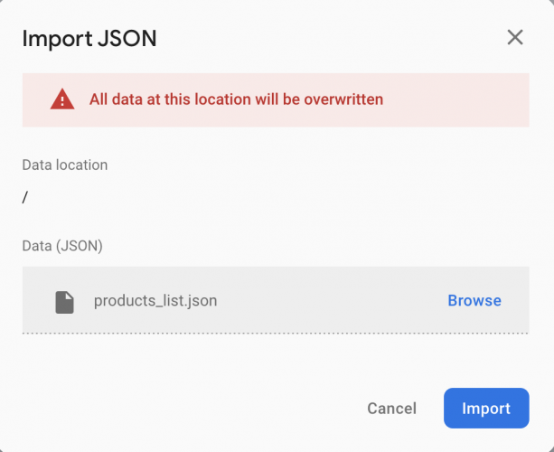 Importing JSON
