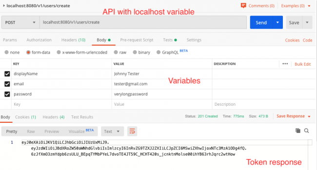 Testing routes in Postman