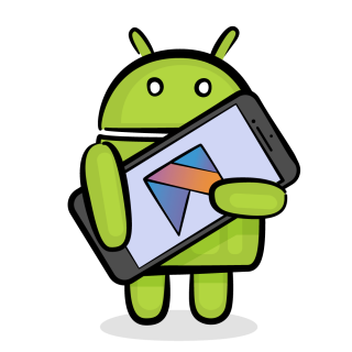 Android with a smartphone