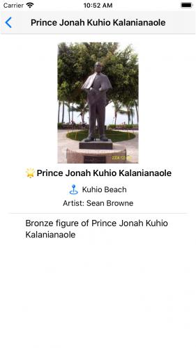 Detail view: Prince Kuhio