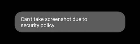 Screenshot error notice