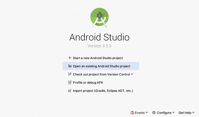 Opening an existing project in Android Studio