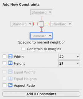 Adding constraints for the user's address label