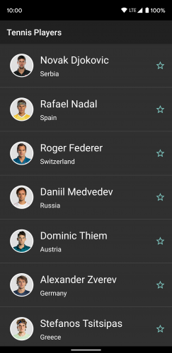 list of top tennis players