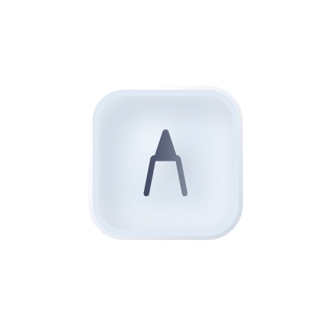 Final selected button with white background