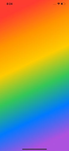 LinearGradient using multiple colors